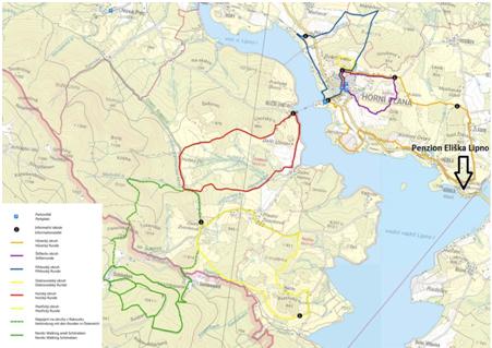 Nordic Walking Lipno trasy